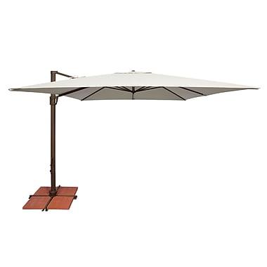 SimplyShade Bali 10' Square Cantilever Umbrella; Solefin / Forest Green