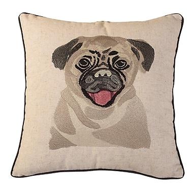 Calla Angel Bulldog Embroidered Throw Pillow