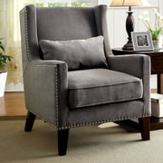 Hokku Designs Marlow Wingback Arm Chair; Gray