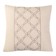 Calla Angel Cross Chain Throw Pillow; White