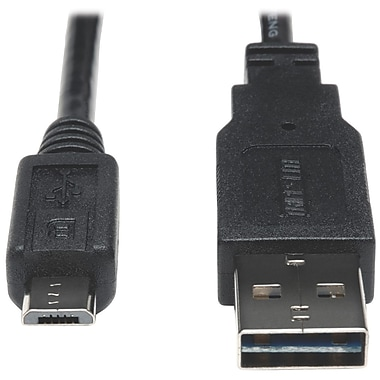 Tripp Lite 6ft USB 2.0 Universal Reversible Cable 24AWG A to 5Pin Mic B