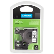 "Dymo® D1 Series Label Tape, 3/8"" x 23', Black on White"