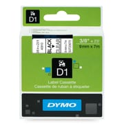 "DYMO® Label Maker D1 Label Cartridge, Label Tape, 3/8"" x 23', Black on Clear"