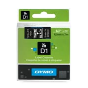 DYMO 45021 1/2-Inch Label Tape Cartridge White/Black