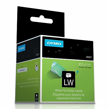 DYMO® 30327 LabelWriter Self-Adhesive File Folder Labels, White, 2/Pack