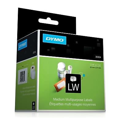Dymo® White Multi-purpose Labels, F/models: EL40, 60, Turbo, 2-1/4Hx1-1/4