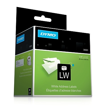 DYMO® 30320 LabelWriter Self-Adhesive Address Labels, White, Roll of 260