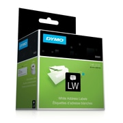 "Dymo® White Address Labels, F/models: EL40, 60, Turbo & Seiko Printers, 1-1/8""H x 3-1/2""W, 260/Roll, 2Rolls/Box (30320)"