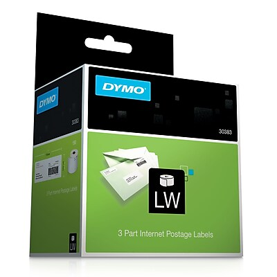 DYMO® Internet Postage 3-part White Labels, 2-1/4x7