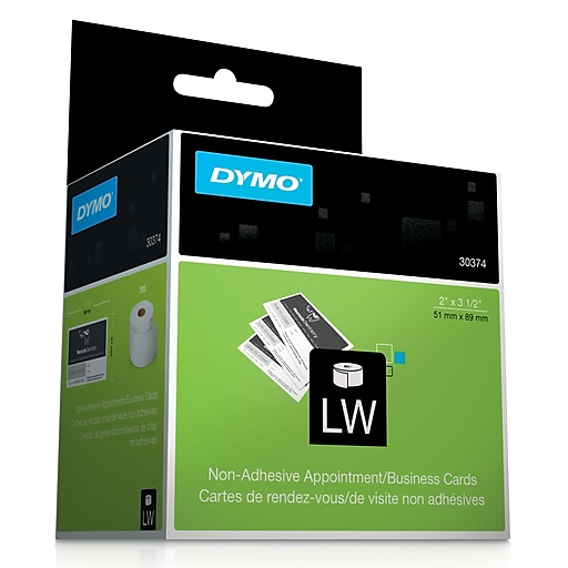 Dymo 30374 labelwriter appointmentbusiness cards 2 inch x 3 12 httpsstaples 3ps7is reheart Gallery