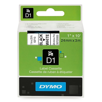 DYMO 53713 D-1 1-Inch Label Tape, White
