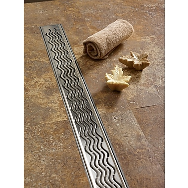 QuARTz by ACO Wavy Linear 27'' Grid Shower Drain