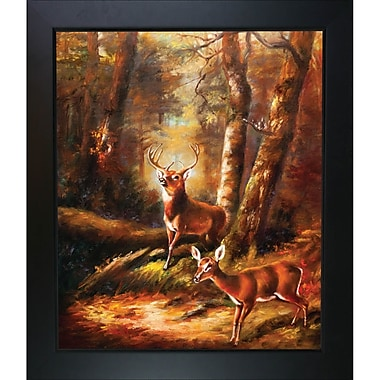 Tori Home The Forest Adirondacks by Arthur Fitzwilliam Tait Framed Painting Print