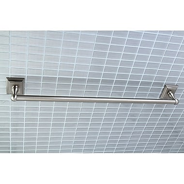 Kingston Brass Millennium 24'' Wall Mounted Towel Bar; Satin Nickel