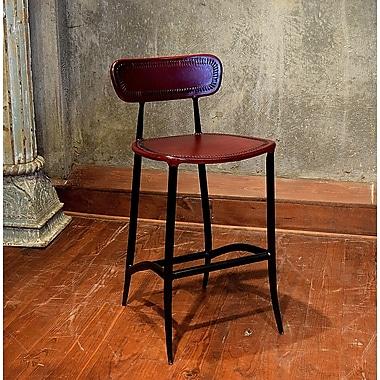 William Sheppee Pub 26'' Bar Stool; Burgundy