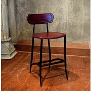 William Sheppee Pub 26'' Bar Stool; Burgundy