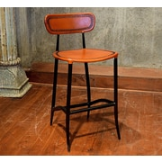 William Sheppee Pub 26'' Bar Stool; Apricot