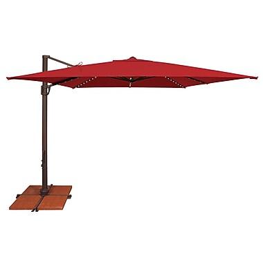 SimplyShade Bali 10' Square Cantilever Umbrella; Sunbrella / Jockey Red