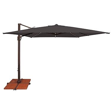 SimplyShade Bali 10' Square Cantilever Umbrella; Sunbrella / Black