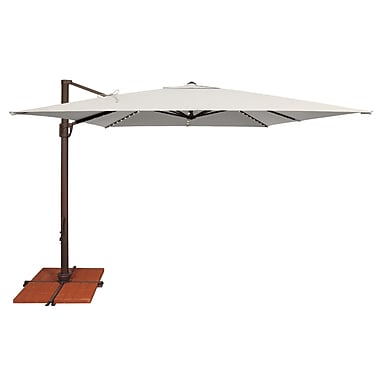 SimplyShade Bali 11.5' X 10' Rectangular Cantilever Umbrella; Sunbrella / Natural