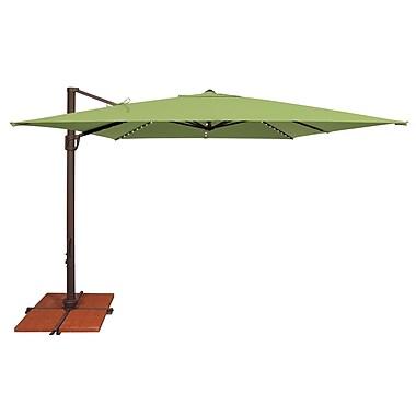 SimplyShade Bali 10' Square Cantilever Umbrella; Sunbrella / Ginkgo