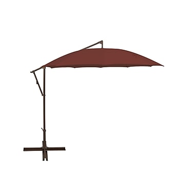 SimplyShade 10' Round Cantilever Umbrella; Deep Red