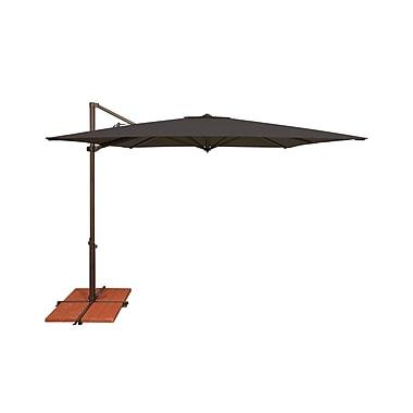 SimplyShade Skye 8.6' Square Cantilever Umbrella; Solefin / Black