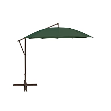 SimplyShade Santorini 11' Cantilever Umbrella; Forest Green