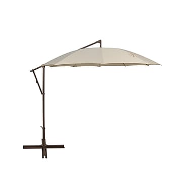 SimplyShade Santorini 11' Cantilever Umbrella; Antique Beige