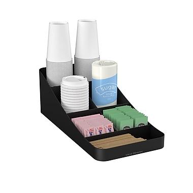Mind Reader – Range-tout Trove à 7 compartiments pour accessoires à café, noir (COMP7-BLK)