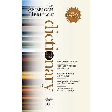 Houghton Mifflin Harcourt American Heritage Dictionary, 4th Ed, Office Ed., Paperback, 960 Pages, 1 3/5