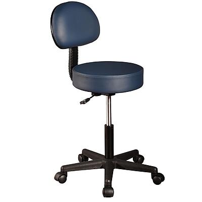 MT Massage Rolling Massage Stool with Backrest, Agate Blue (141)