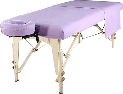 MT Massage Table Flannel Sheet Set; Purple (2017)