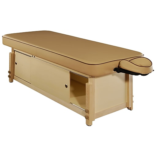 MT Massage Executive Comfort Stationary Massage Table; Beige (23093)