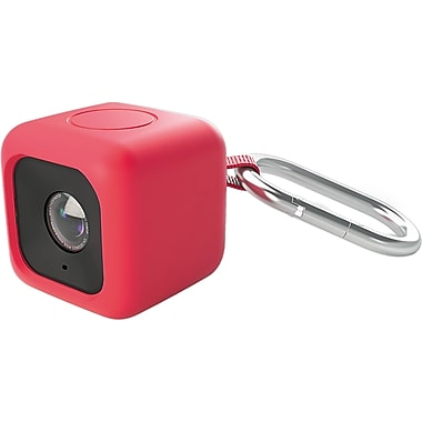 Polaroid Silicone Bumper Pendent Cases for Cube HD Action Lifestyle Camera, Red