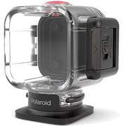 Polaroid Plastic/Rubber Waterproof Case for Cube HD Action Lifestyle Camera, Clear/Black