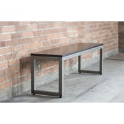 Elan Furniture Loft Wood/Metal Dining Bench; Onyx / Warehouse Metal