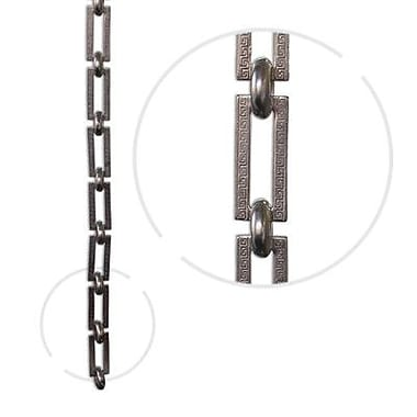 RCH Supply Company Rectangle Un-Welded Link Solid Brass Chain; Polished Nickel