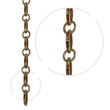 RCH Supply Company Oval Un-Welded Link Solid Brass Chain; Polished Brass