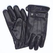 Royce Leather Phone and Tablet Touchscreen Capable Genuine Lambskin Gloves, Black, Men's Large (1001-BLLG-1)