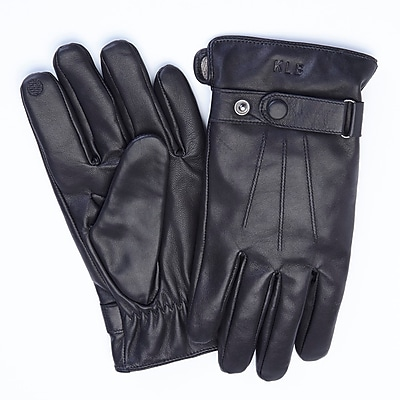 Royce Leather Black Genuine Lambskin Phone and Tablet Touchscreen Capable Gloves, Pair, Men's Medium (1001-BLMD-1)