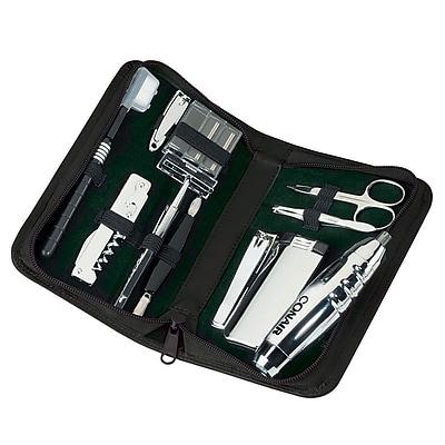 Royce Genuine Leather Travel Grooming Toiletry Kit Black (506-BLACK-5)