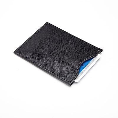 Royce Leather Black Leather RFID Blocking Credit Card Sleeve (RFID-411-BLK-2)