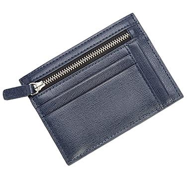 Royce Leather RFID Blocking Slim Card Case Wallet in Genuine Leather, Blue (RFID-418-BLUE-2)