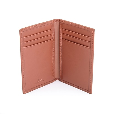 Royce Leather RFID Blocking Credit Card Case Wallet in Genuine Leather, Tan (RFID-422-TN-5)