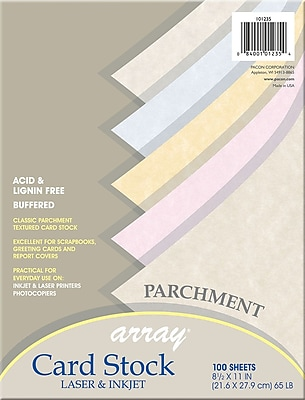 """array card stock, 2/3""""(w) x 3 7/16""""(l), 100/pack 