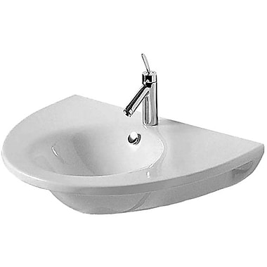 Duravit Starck 1 Ceramic 30'' Wall Mount Bathroom Sink w/ Overflow; Single Hole