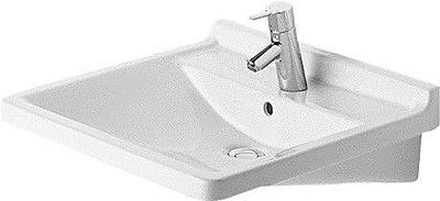 Duravit Starck 3 Ceramic 24'' Wall Mount Bathroom Sink w/ Overflow; Single Hole