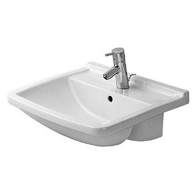 Duravit Starck 3 Ceramic 22'' Wall Mount Bathroom Sink w/ Overflow