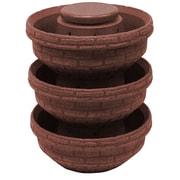 Good Ideas Plastic Vertical Garden (Set of 3); Red Brick